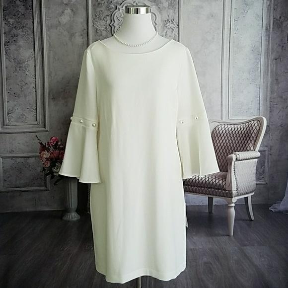 d5f19b71114 Ivanka Trump Women s Dress Ivory Plus Size 14 NWT